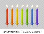 candles with burning fire flame ... | Shutterstock .eps vector #1287772591