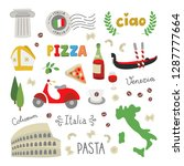 italy vector doodle icons and... | Shutterstock .eps vector #1287777664