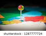 togo marked with a flag on the... | Shutterstock . vector #1287777724