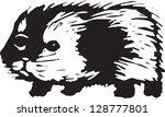 vector illustration of a guinea ... | Shutterstock .eps vector #128777801