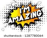 i'm amazing   vector... | Shutterstock .eps vector #1287780064