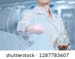 a laboratorian assistant... | Shutterstock . vector #1287783607