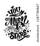 you are my moon and all the... | Shutterstock .eps vector #1287784867