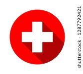 medical white cross symbol | Shutterstock .eps vector #1287792421