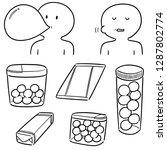 vector set of bubble gum | Shutterstock .eps vector #1287802774