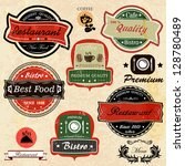 set of vintage  restaurant  ... | Shutterstock .eps vector #128780489