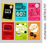 set of sale website banner... | Shutterstock .eps vector #1287811747