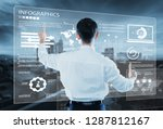 analytics business data... | Shutterstock . vector #1287812167