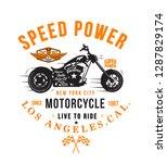 motorcycle typography  t shirt... | Shutterstock .eps vector #1287829174