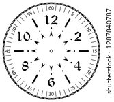 clock face for house  alarm ... | Shutterstock .eps vector #1287840787