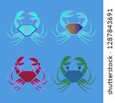 amazing new animal crab... | Shutterstock .eps vector #1287843691