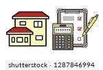 house and electronic calculator ...   Shutterstock .eps vector #1287846994