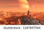 wide 3d illustration of an... | Shutterstock . vector #1287847564