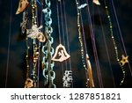 christmas different pendants... | Shutterstock . vector #1287851821