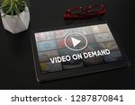video on demand television... | Shutterstock . vector #1287870841