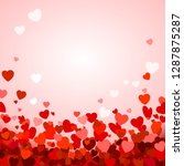 valentine's day background with ...   Shutterstock . vector #1287875287