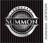 summon silver shiny badge | Shutterstock .eps vector #1287876244