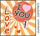 kawaii valentines day card ...   Shutterstock .eps vector #1287879871