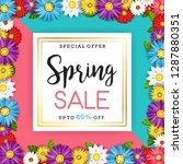 spring sale banner with... | Shutterstock .eps vector #1287880351