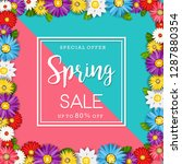 spring sale banner with... | Shutterstock .eps vector #1287880354