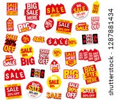 sale tags  banners vector set | Shutterstock .eps vector #1287881434