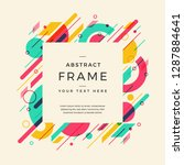 card with abstract design. use... | Shutterstock .eps vector #1287884641