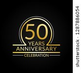 50 years anniversary logo. 50th ... | Shutterstock .eps vector #1287886054