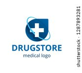 medical or drugstore logo... | Shutterstock .eps vector #1287893281