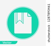 bookmark vector icon sign symbol | Shutterstock .eps vector #1287893461