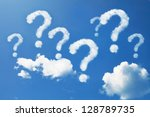 question mark shaped clouds on... | Shutterstock . vector #128789735