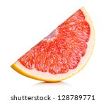 Grapefruit Slice On White...