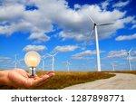 green renewable energy concept  ... | Shutterstock . vector #1287898771