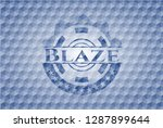 blaze blue polygonal badge. | Shutterstock .eps vector #1287899644