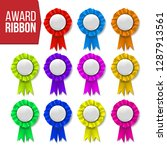 award ribbon set vector.... | Shutterstock .eps vector #1287913561