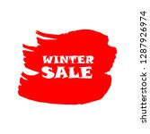 winter sale sign over art red... | Shutterstock .eps vector #1287926974