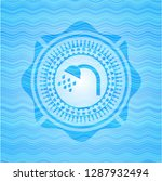 shower icon inside water wave... | Shutterstock .eps vector #1287932494