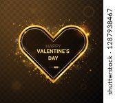 happy valentine's day with... | Shutterstock .eps vector #1287938467