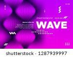 3d distorted wave lines.... | Shutterstock .eps vector #1287939997