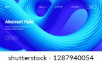 blue fluid background. landing... | Shutterstock .eps vector #1287940054
