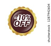 glossy label with text   10 ...   Shutterstock .eps vector #1287942604