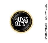 glossy label with text   10 ...   Shutterstock .eps vector #1287942607