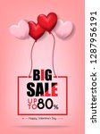 big sale up to 80  for... | Shutterstock .eps vector #1287956191