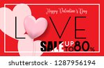 sale up to 80  for valentine's... | Shutterstock .eps vector #1287956194