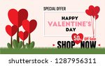 special offer 50  off sale for... | Shutterstock .eps vector #1287956311
