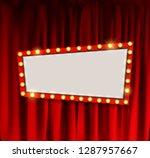 realistic retro cinema... | Shutterstock .eps vector #1287957667