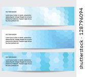 abstract header blue  vector... | Shutterstock .eps vector #128796094