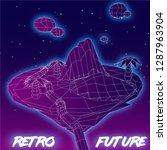 80's retro futuristic... | Shutterstock .eps vector #1287963904