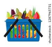 shopping cart from a... | Shutterstock .eps vector #1287965731