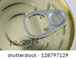 aluminum tin can on a white... | Shutterstock . vector #128797129