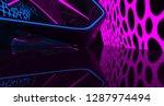 abstract  concrete futuristic... | Shutterstock . vector #1287974494